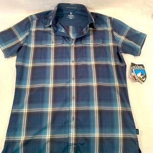 NEW Kuhl Response Short Sleeve Shirt Blue S/XXL